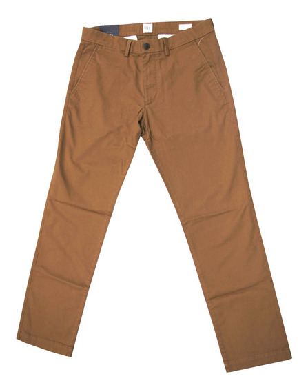 Pantalón Hombre Khaki Casual Bolsillos Slim Fit Gapflex Gap