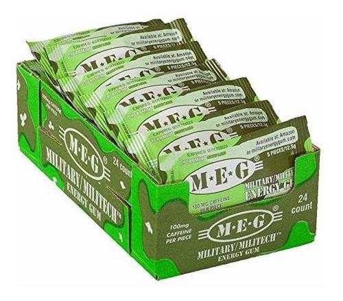 Paquete Energy Energy Gum 24 | 100 Mg De Cafeina Aumenta El