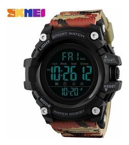 Relógio Skmei 1384 Camuflado Militar Digital Led Promoção