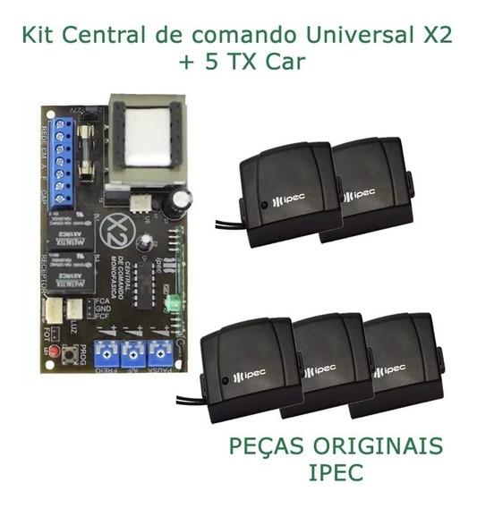 Placa Central P/ Motor Portão Ipec 4 Trimpots + 5tx Car