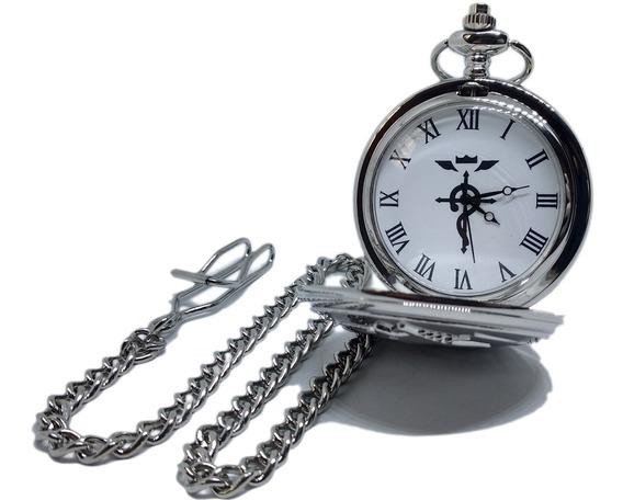 Reloj Hombre Mujer De Bolsillo Alquimista Alchemist Plateado