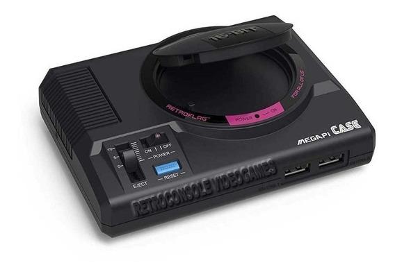 Case Retroflag® Megapi Mega Drive Para Raspberry Pi 3 B E B+