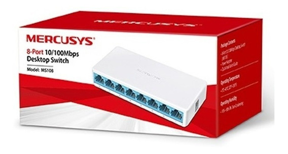Switch Suiche 8 Puertos Mercusys Pc Rj45 Cable Hecho Tp-link