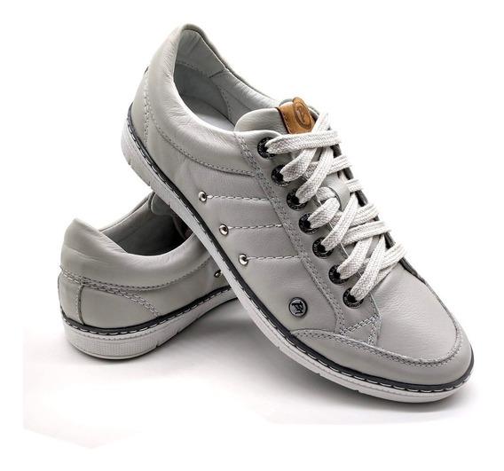 Sapato Tênis Casual Masculino Bm Brasil Conforto Couro 750