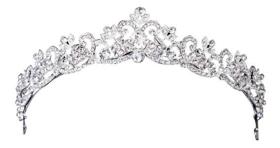 Coroa Tiara Strass Noiva Debutante Casamento Miss - Tiara