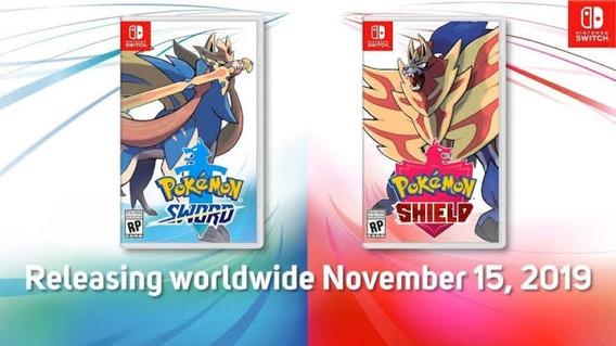 Pokemon Sword E Pokemon Shield - Switch - Mídia Física