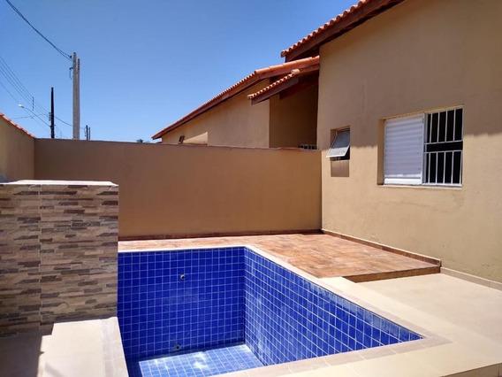 Casa Nova Com Piscina Lado Praia Em Itanhaém!!