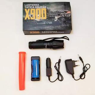 Kit 20 Lanterna Led X900 Regarregavel Tatica Super Potente