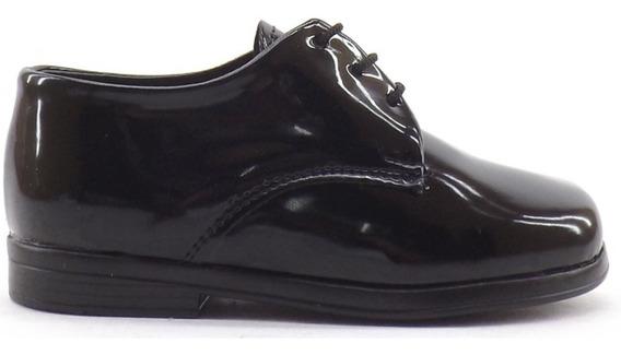 Zapatos Acordonado Charol Nene Niño Vestir Sacha Bauti