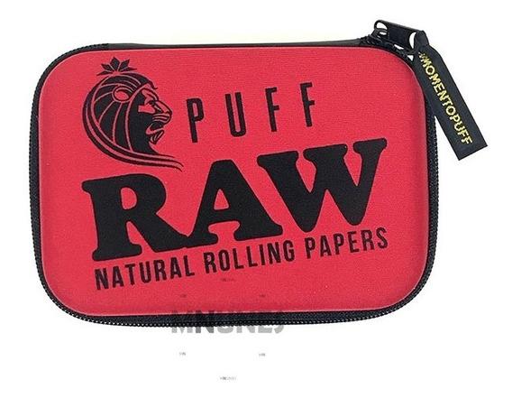 Case Bag Puff Life Raw Vermelha Grande P/ Seda Isqueiro Pipe