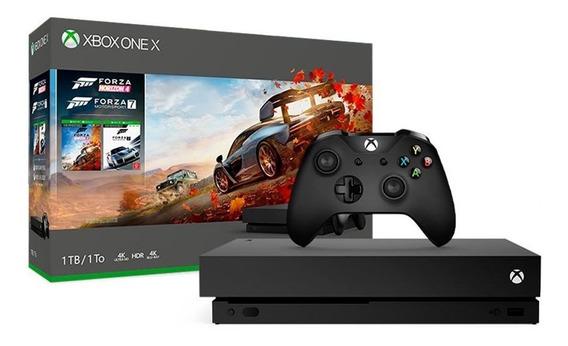 Console Xbox One X 1tb Pacote Forza Horizon 4 Microsoft Novo