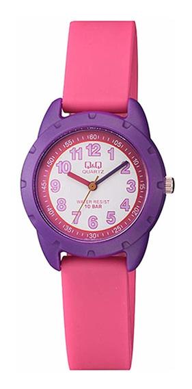 Relógio Infantil Feminino Rosa E Roxo Prova D