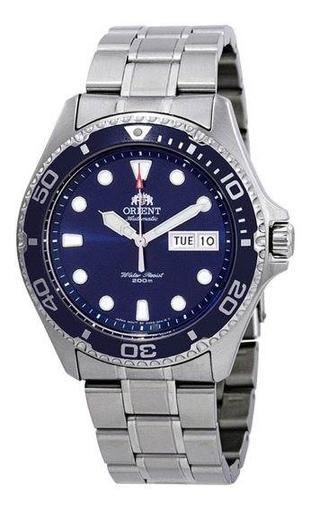 Relógio Orient Ray 2 Azul Automatic 200m Divers Faa02005d9