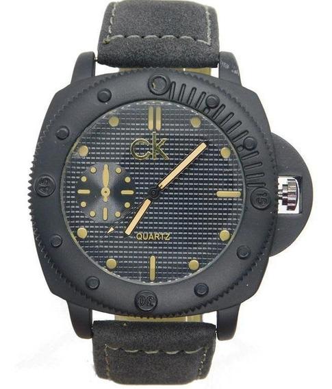 Relógio A Prova D´água Unisex De Camurça Elegante Casual