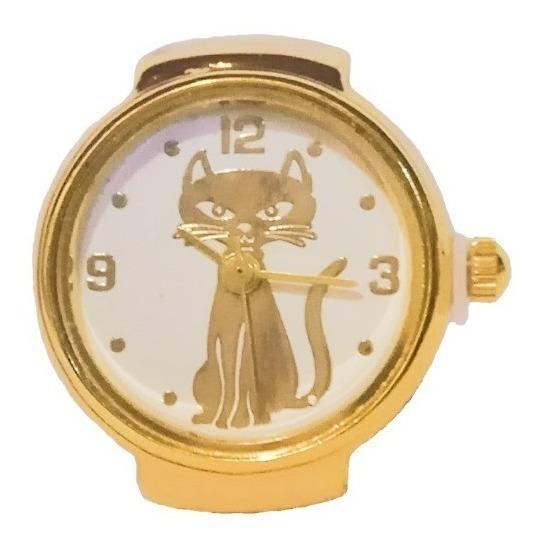 Lote De Anillos Reloj Dama Dorado Autoajustable 10 Pzas