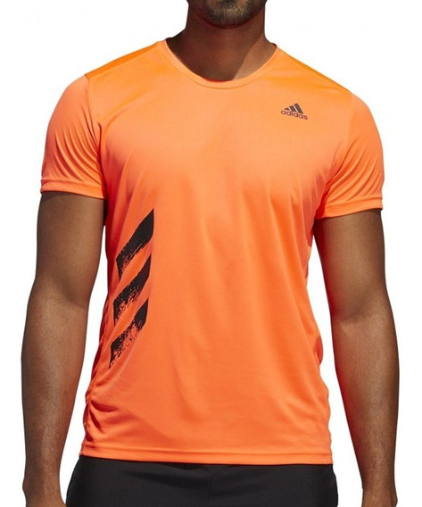 Remera adidas Hombre Running Run It Tee Naranja
