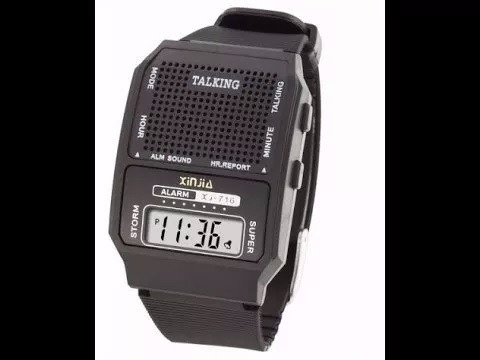 Relógio Fala Hora Ideal Idoso Deficiente Visual + Brinde