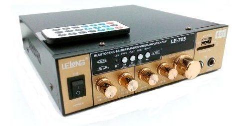Amplificador Áudio Estereo Bluetooth Rádio Karaokê Fm 220v