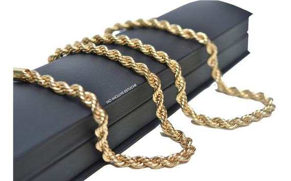 Padrísima Cadena Torzal 5mm Grueso Oro Laminado Envío Gratis