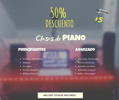 Clases De Piano Para Principiantes Y Avanzados Mitad Precio
