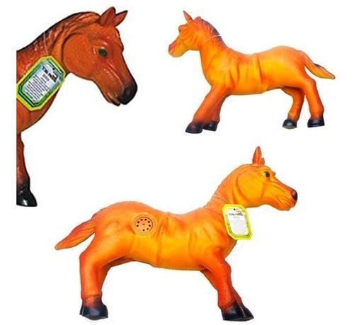 Cavalo Selvagem Grande C/ Som Macio Vinil Soft
