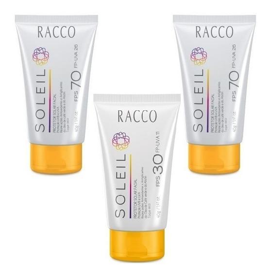 2 Protetor Facial Racco Fps 70+1 Fps 30 Soleil
