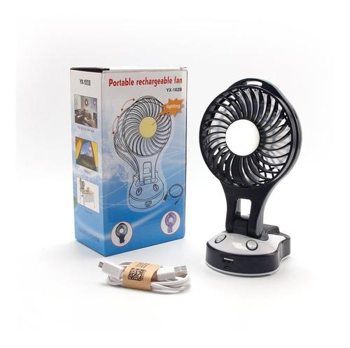 Ventilador Portátil Con Linterna Ventilación  Yx-102b /jh.