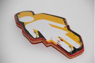 Colgador De Llaves De Madera Reciclada De Skate