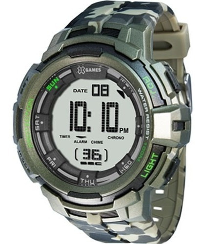 Relógio Masculino Digital Xgame Xmppd386 Bxef - Camuflado