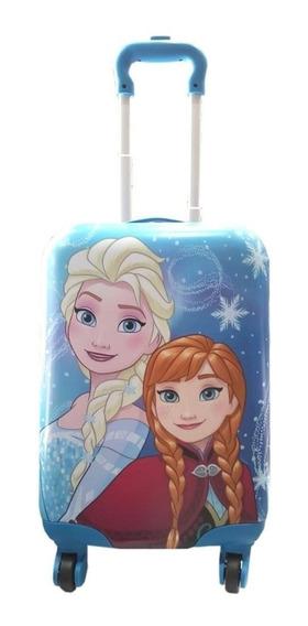 Valija Frozen De Mano Semi Rigida 17 Pulgada Elsa Ana Cabina