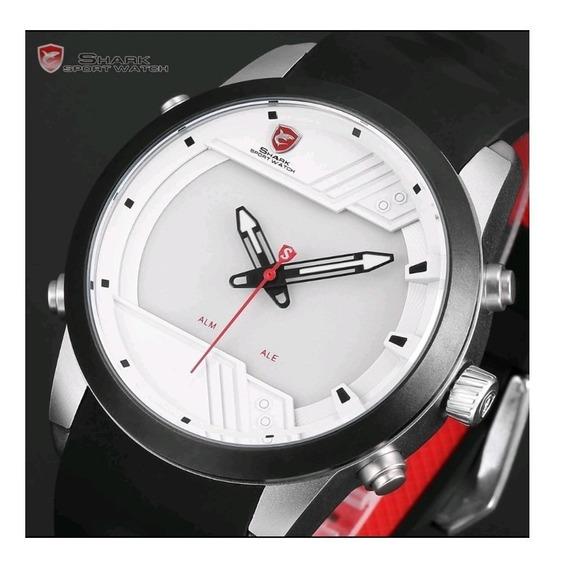 Relógio Digital Shark Sh540 Alarme Pulseira Silicone Luxo