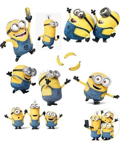 Imagen 1 de 7 de Vinil Stickers Adherible Minion Bananas