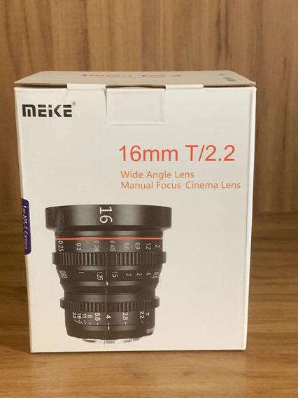 Lente Meike 16mm 2.2 Cine - Nunca Usada