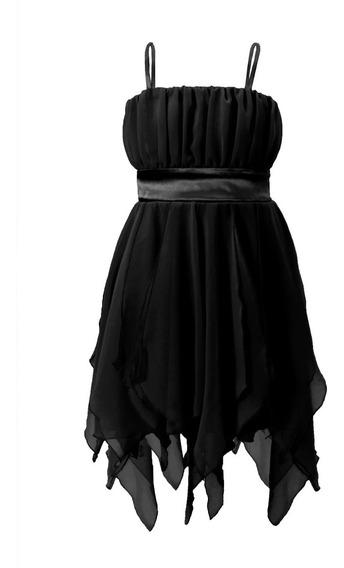 Vestido De Nena De Gasa, Con Faja De Raso, Brishka N-0007