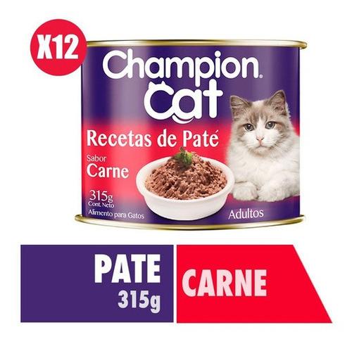 Champion Cat Recetas De Paté Carne 12x315g