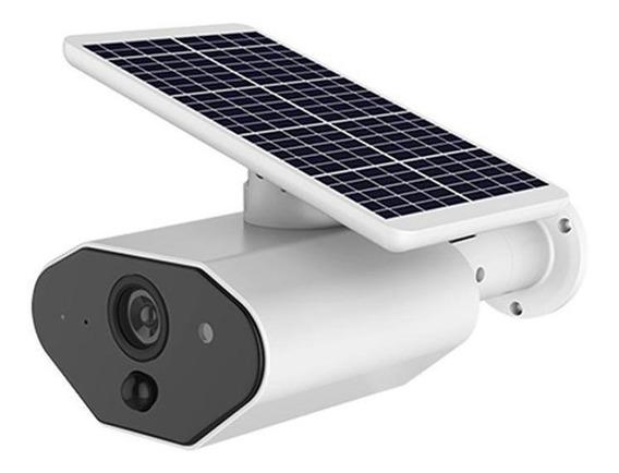 Câmera De Segurança Ip Energia Solar Regarregavel Sem Fio L4