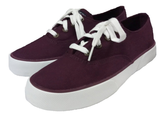 Tenis Sperry Pier Edge Burgundy Sts97629 Originales Remate