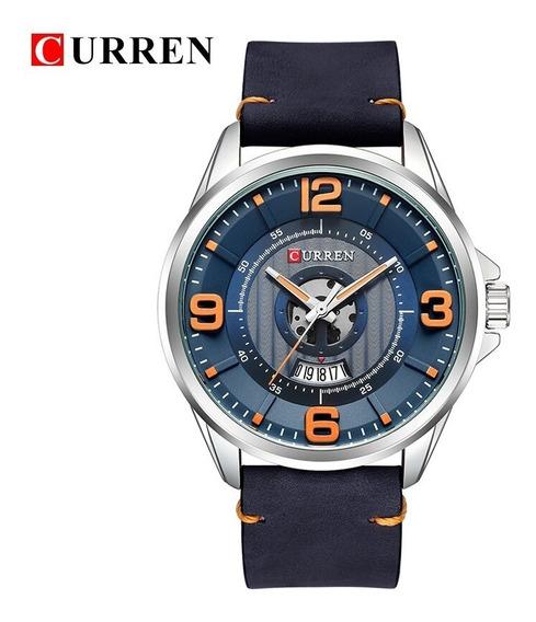 Reloj Para Hombre Curren 8305 Casual De Piel Con Estuche