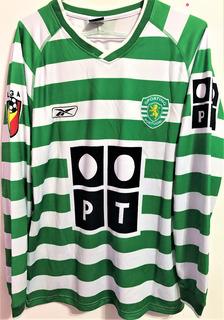 Camisa Sporting Lisboa 2001/02 Autografada Cristiano Ronaldo