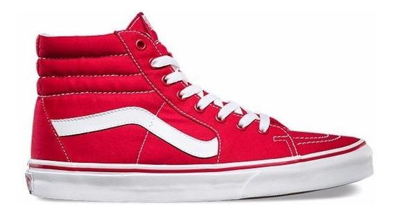 Zapatillas Vans Mod Sk8 Rojo Blanco! Lona! 100% Original!