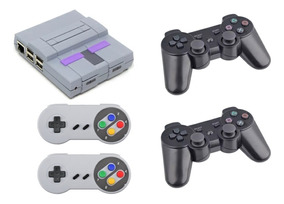 Vídeo Game Retro Super Nintendo Snes 10257 Jogos 4 Controles