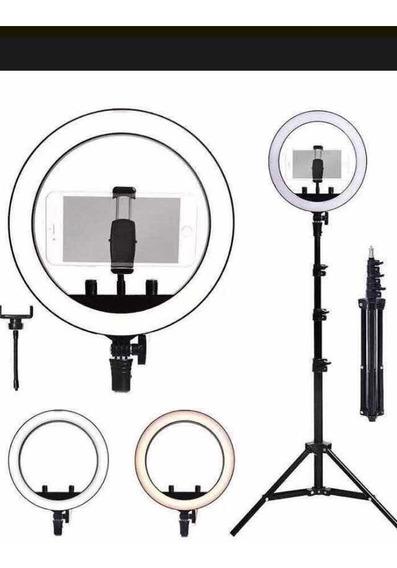 Ring Light 26 Cm Com Tripé E Acessórios(adaptador De Célular