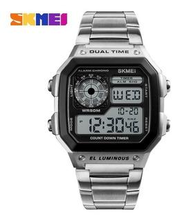 Reloj Digital Skmei 1335 Silver Hombre Impacto Online
