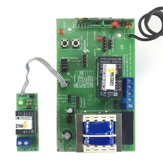 Central Controle Portão Eletrônico Acton + Relé Opcional 8f