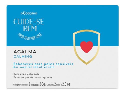 Sabonete Barra Cuide-se Bem Acalma, 2 X 80 G