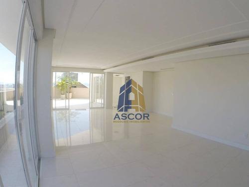 Linda Cobertura 3suítes, Duplex, 350m Privativos  Com Belíssima Vista Mar. - Co0087