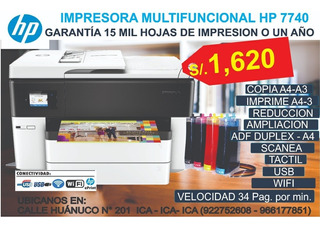 Hp Office Jet 7740 Con Sistema Continuo Full