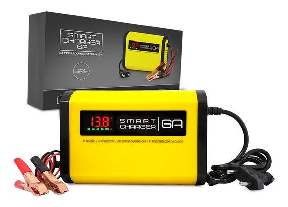 Carregador De Bateria 6a 12v Inteligente Digital P/ Barco Lancha Jet Moto Carro Pickup Jet Ski Motonautica 110-220v Auto