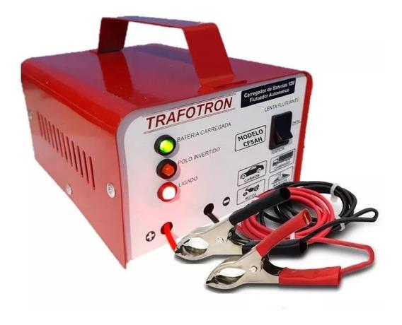 Carregador De Bateria 12v Até 300a Cf5ah Carro E Moto Bivolt