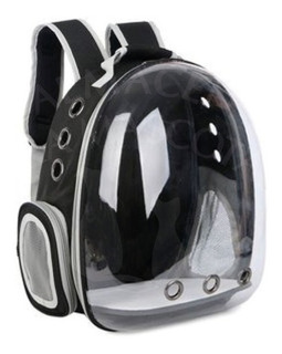 Mochila Transportadora Rígida Gatos Perros Peq Negra